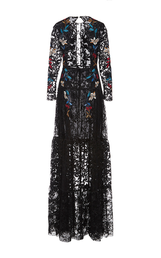 Dupont Embroidered Lace Gown by SACHIN & BABI for Preorder on Moda Operandi