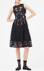Dewdrop Embroidered A Line Dress by SACHIN & BABI for Preorder on Moda Operandi