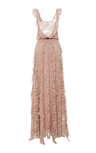 Melody Ruffled Lace Gown by SACHIN & BABI for Preorder on Moda Operandi