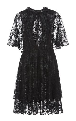 Medium sachin babi black onassis a line lace dress