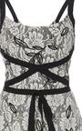 Rose Ribbon Tie Midi Dress by SACHIN & BABI for Preorder on Moda Operandi