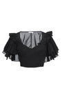 Cotton Voile Ruffle Sleeve Bra Top by TOME for Preorder on Moda Operandi
