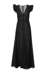 Cotton Voile Long V Neck Dress by TOME for Preorder on Moda Operandi