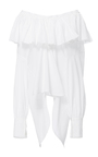 Cotton Voile Ruffle Peasant Blouse by TOME for Preorder on Moda Operandi