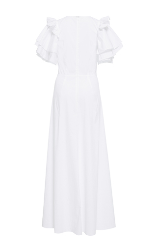 Stretch Cotton Ruffle Sleeve Sweetheart Dress by TOME for Preorder on Moda Operandi