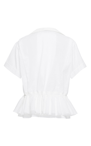 Cotton Voile Ruffled Drawstring Shirt by TOME for Preorder on Moda Operandi