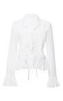 Chinoise Ruffle Cuff Blouse by TOME for Preorder on Moda Operandi