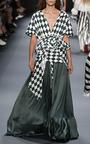 Diamond Print Ruffled Drawstring Shirt by TOME for Preorder on Moda Operandi