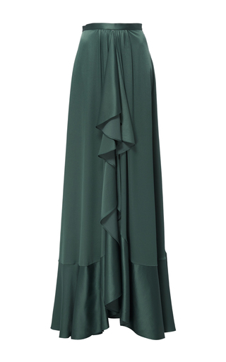 Crepe Gathered Front Ruffle Skirt by TOME for Preorder on Moda Operandi