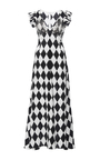 Long V Neck Crystal Dress by TOME for Preorder on Moda Operandi
