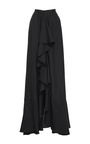 Gathered Front Ruffle Skirt by TOME for Preorder on Moda Operandi