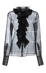 Silk Organza Ruffle Collar Shirt by TOME for Preorder on Moda Operandi