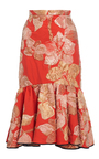 Floral Mermaid Peplum Skirt by TOME for Preorder on Moda Operandi