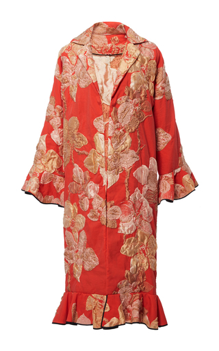 Chinoise Ruffle Coat by TOME for Preorder on Moda Operandi