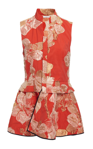 Medium tome floral chinoise ruffle vest