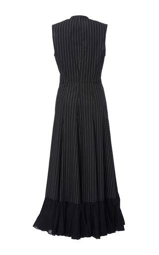 Paneled Cotton Pinstripe Shirt Dress by TOME for Preorder on Moda Operandi