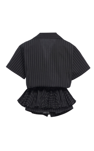 Ruffled Drawstring Shirt by TOME for Preorder on Moda Operandi