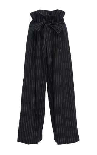 Medium tome stripe paperbag waist pants