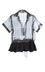 Gingham Ruffled Drawstring Shirt by TOME for Preorder on Moda Operandi