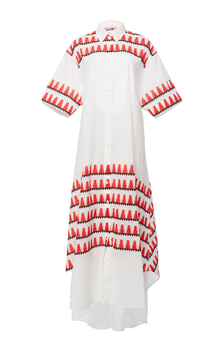 Printed Open Back Belted Shirt Dress by TOME for Preorder on Moda Operandi