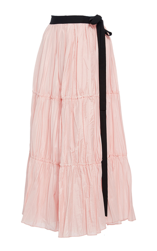 Textured Tiered Wrap Skirt by TOME for Preorder on Moda Operandi