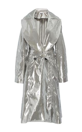Wide Lapel Metallic Coat by TOME for Preorder on Moda Operandi