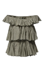 Modified Off The Shoulder Ruffle Blouse by TOME for Preorder on Moda Operandi