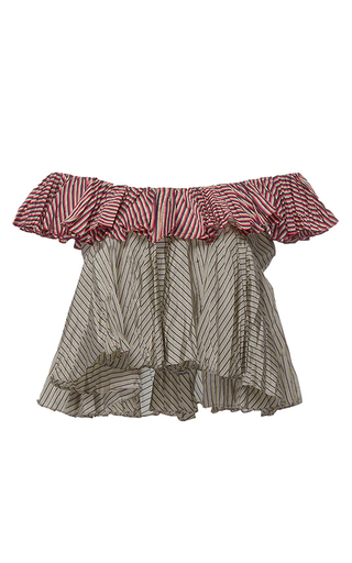 Sleeveless 2 Tier Ruffle Top by TOME for Preorder on Moda Operandi