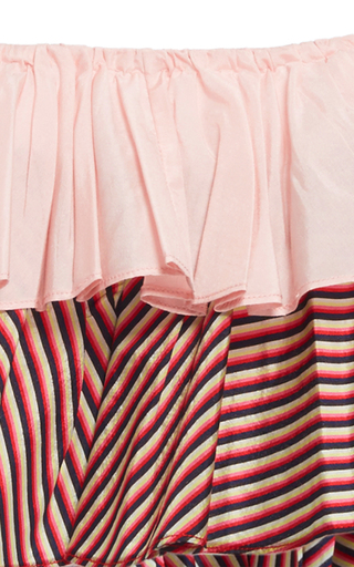 Stripe Ruffle Cropped Top by TOME for Preorder on Moda Operandi