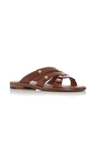 Medium rosetta getty brown flat twist sandal