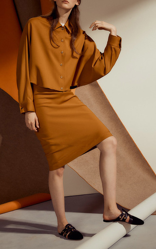 Cropped Blouson Shirt Jacket by ROSETTA GETTY for Preorder on Moda Operandi