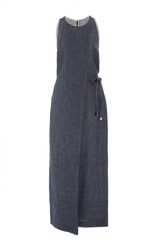 Medium rosetta getty dark wash folded sleeveless jumpsuit