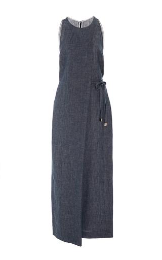 Medium rosetta getty dark wash folded sleeveless jumpsuit