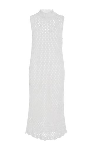 Sleeveless Mesh Sweater Dress by ROSETTA GETTY for Preorder on Moda Operandi