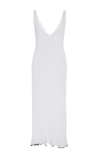 Medium rosetta getty white ribbed camisole dress