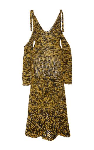 Medium rosetta getty multi hand knit off the shoulder dress