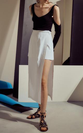 Split Panel Shorts by ROSETTA GETTY for Preorder on Moda Operandi