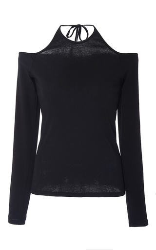 Halter Off The Shoulder Top by ROSETTA GETTY for Preorder on Moda Operandi