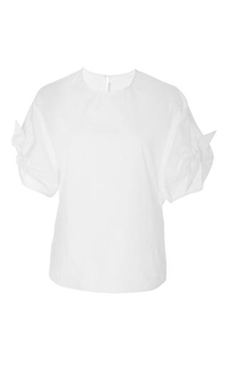 Medium rosetta getty white wrap sleeve blouse 2