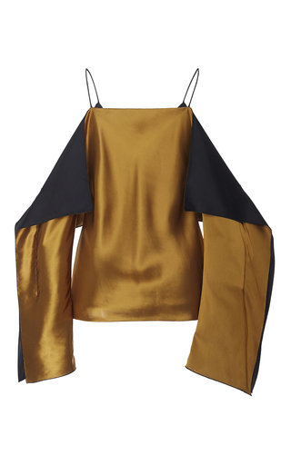 Folded Off The Shoulder Camisole by ROSETTA GETTY for Preorder on Moda Operandi