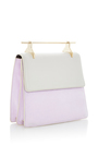 La Collectionneuse Cool Grey And Lilac Suede by M2MALLETIER for Preorder on Moda Operandi