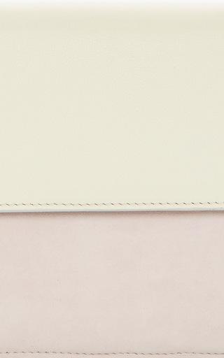 La Fleur Du Mal Ivory & Blush Suede Cb by M2MALLETIER for Preorder on Moda Operandi