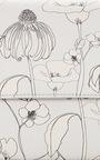 La Fleur Du Mal Printed Flowers In Cool Grey   by M2MALLETIER for Preorder on Moda Operandi