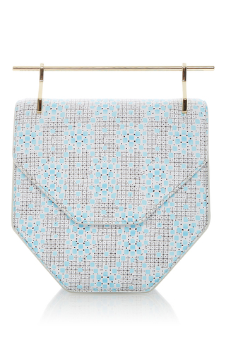 Amor Fati Turquoise Squares by M2MALLETIER for Preorder on Moda Operandi