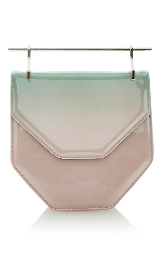 Amor Fati Pink & Mint Patent by M2MALLETIER for Preorder on Moda Operandi