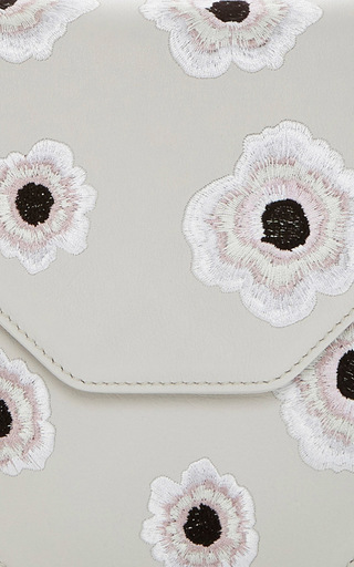 Amor Fati Anemones Embroidery In Cool Grey by M2MALLETIER for Preorder on Moda Operandi