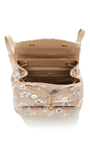 Backpack Printed Flowers In Sand by M2MALLETIER for Preorder on Moda Operandi