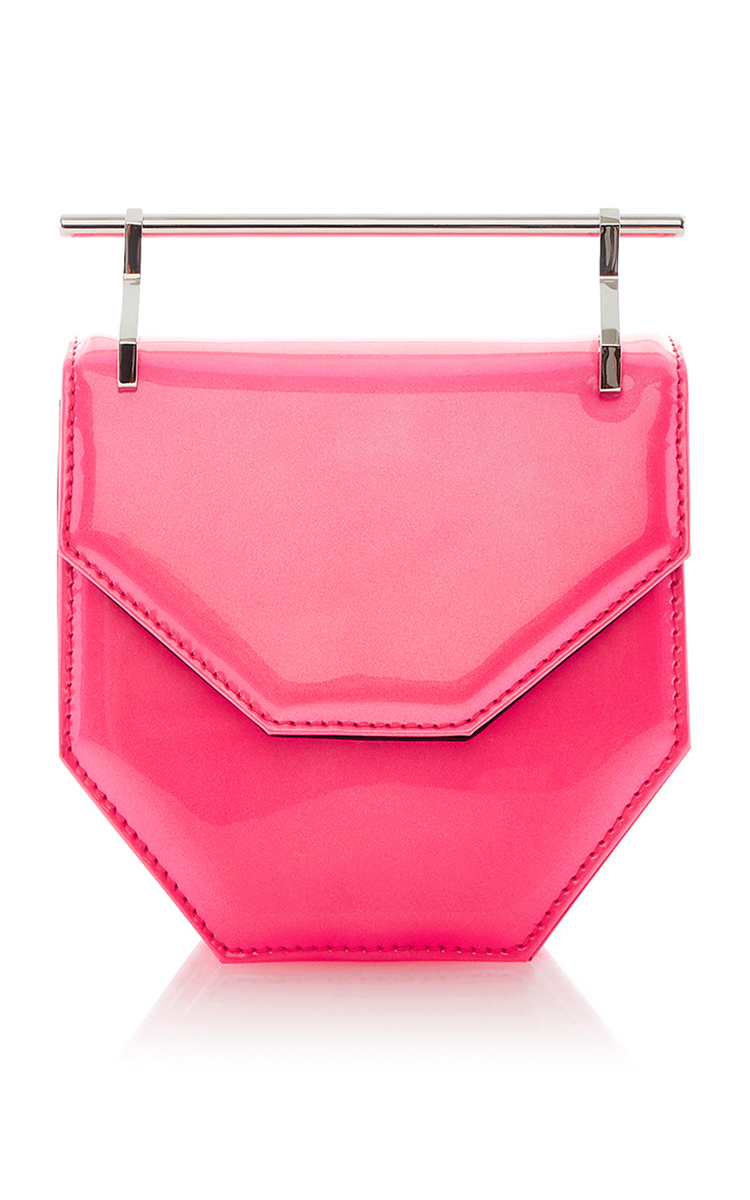 M2MALLETIER Mini Amor Fati Patent Leather Shoulder Bag