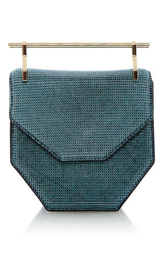 Mini Amor Fati Textured Turquoise by M2MALLETIER for Preorder on Moda Operandi