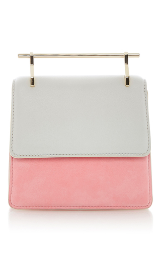 Suede Mini Collectionneuse Cool Grey And Candy Pink  by M2MALLETIER for Preorder on Moda Operandi
